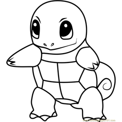 Squirtle Pokemon GO Free Coloring Page for Kids