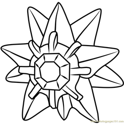 Starmie Pokemon GO Free Coloring Page for Kids