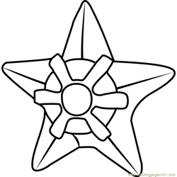 Staryu Pokemon GO Free Coloring Page for Kids