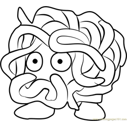 Tangela Pokemon GO Free Coloring Page for Kids