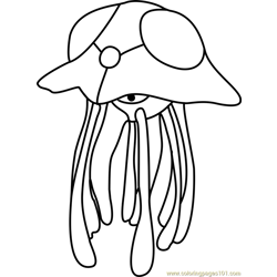 Tentacruel Pokemon GO Free Coloring Page for Kids
