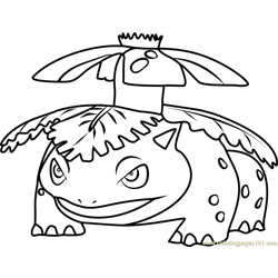 Venusaur Pokemon GO Free Coloring Page for Kids