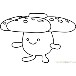 Vileplume Pokemon GO Free Coloring Page for Kids