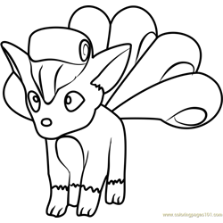 Vulpix Pokemon GO Free Coloring Page for Kids