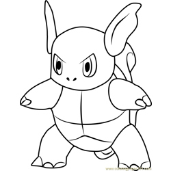 Wartortle Pokemon GO Free Coloring Page for Kids