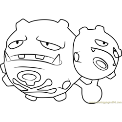 Weezing Pokemon GO Free Coloring Page for Kids