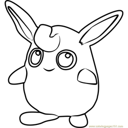 Wigglytuff Pokemon GO Free Coloring Page for Kids