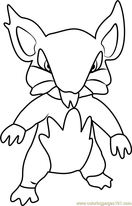 Alola Rattata Pokemon Sun and Moon Coloring Page - Free Pokémon Sun ...