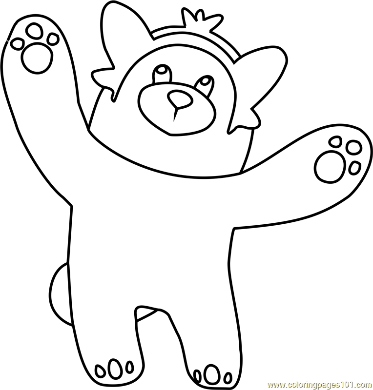 Bewear pokemon sun and moon coloring page