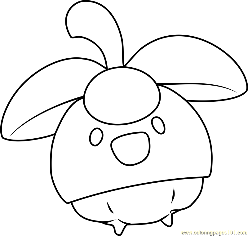 Bounsweet Pokemon Sun and Moon Coloring Page - Free Pokémon Sun and ...