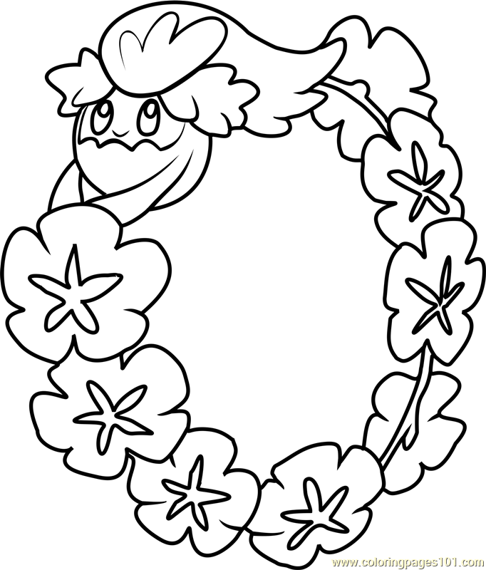 Comfey pokemon sun and moon coloring page free pok mon for Pokemon sun and moon coloring pages