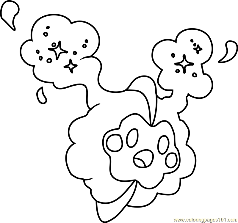 Cosmog pokemon sun and moon coloring page