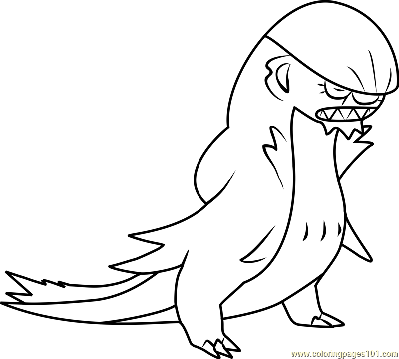 Gumshoos Pokemon Sun And Moon Coloring Page Free Pokemon Sun And
