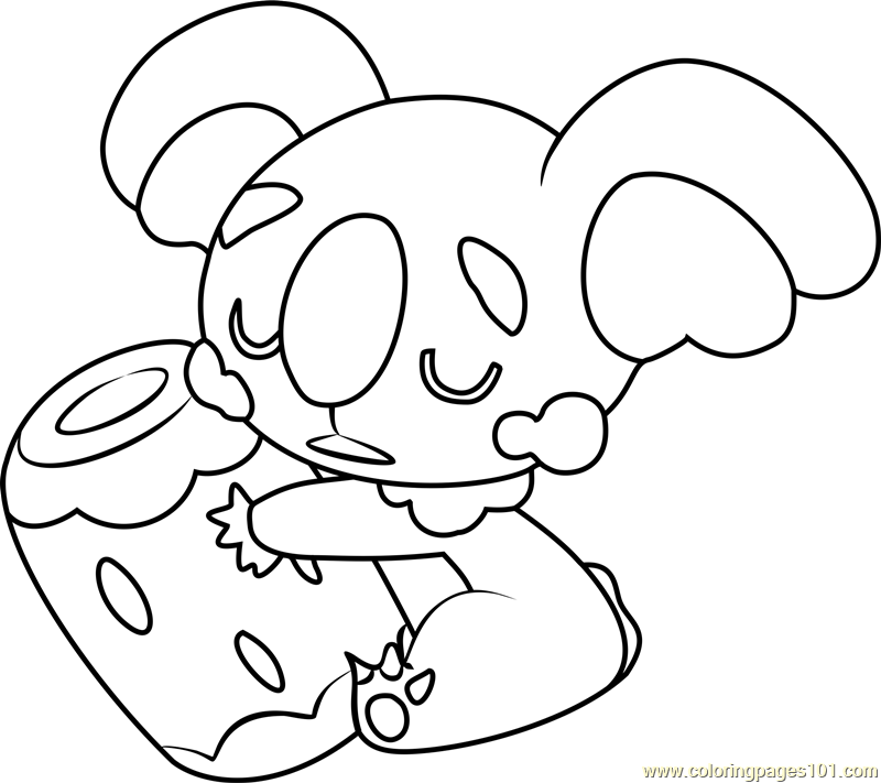 Komala Pokemon Sun and Moon Coloring