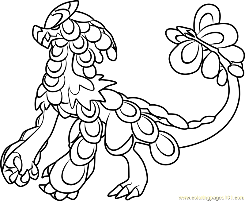 Kommo O Pokemon Sun And Moon Coloring Page