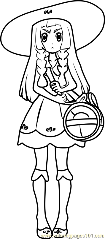 Lillie Pokemon Sun And Moon Coloring Page Free Pok 233 Mon