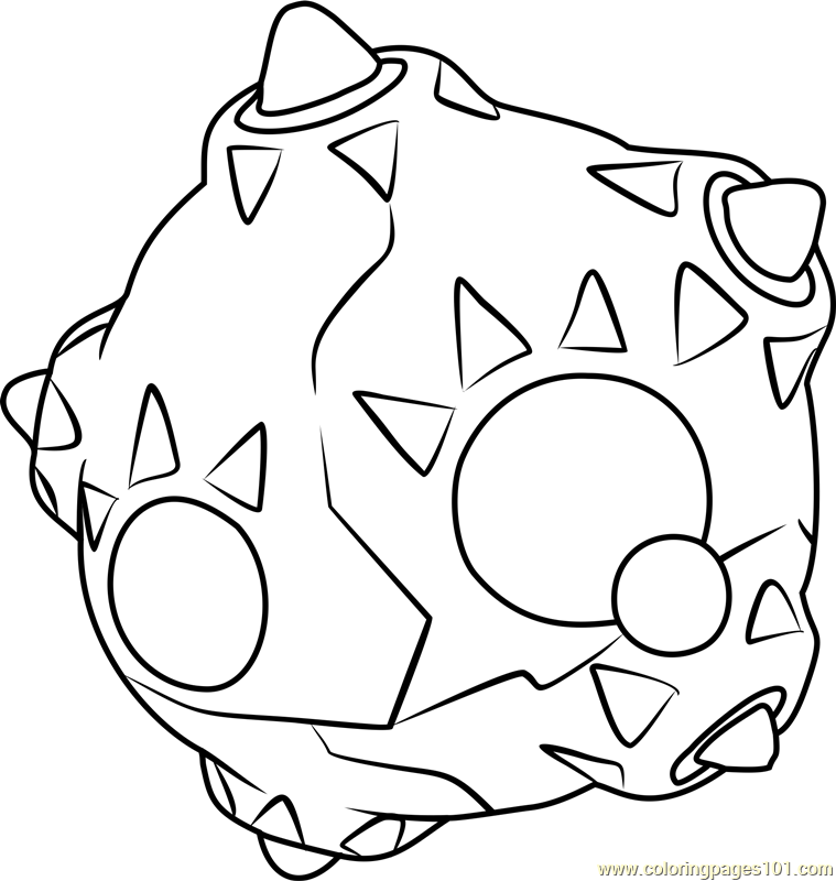 Minior Pokemon Sun and Moon Coloring Page Free Pokmon Sun and