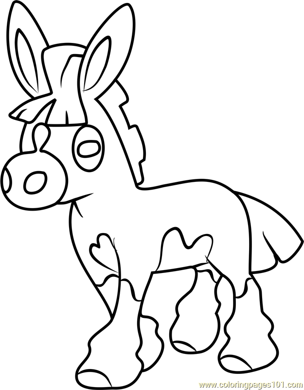 Mudbray Pokemon Sun and Moon Coloring