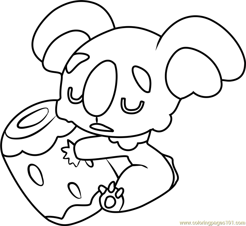 Nekkoara pokemon sun and moon coloring page