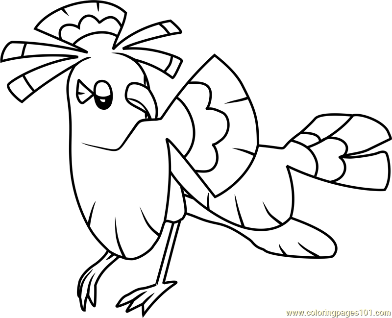 Tapu lele pokemon sun and moon coloring pages coloring pages for Pokemon sun and moon coloring pages