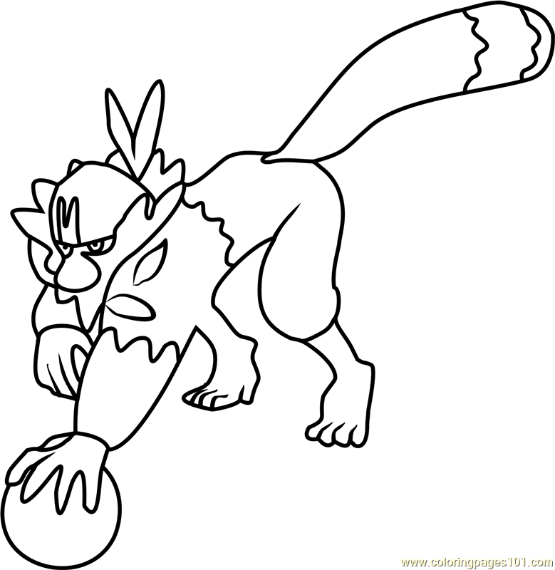 Passimian Pokemon Sun and Moon Coloring Page - Free Pokémon Sun and ...