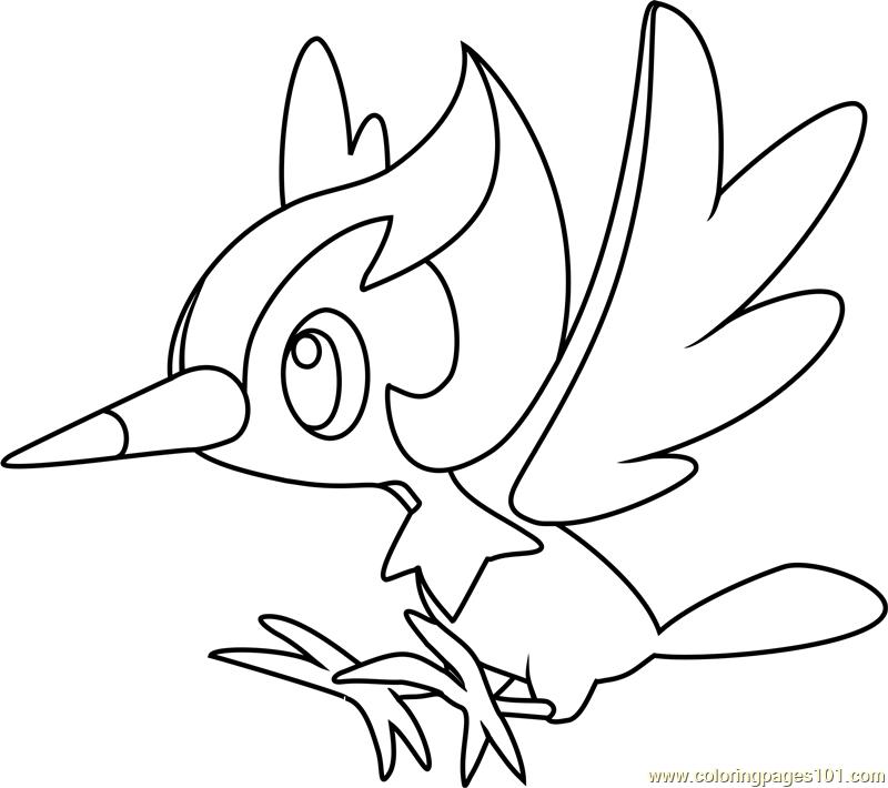 Pikipek Pokemon Sun and Moon printable coloring page for ...