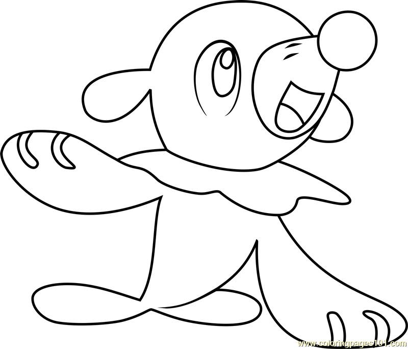 Popplio Pokemon Sun and Moon Coloring Page - Free Pokémon Sun and ...