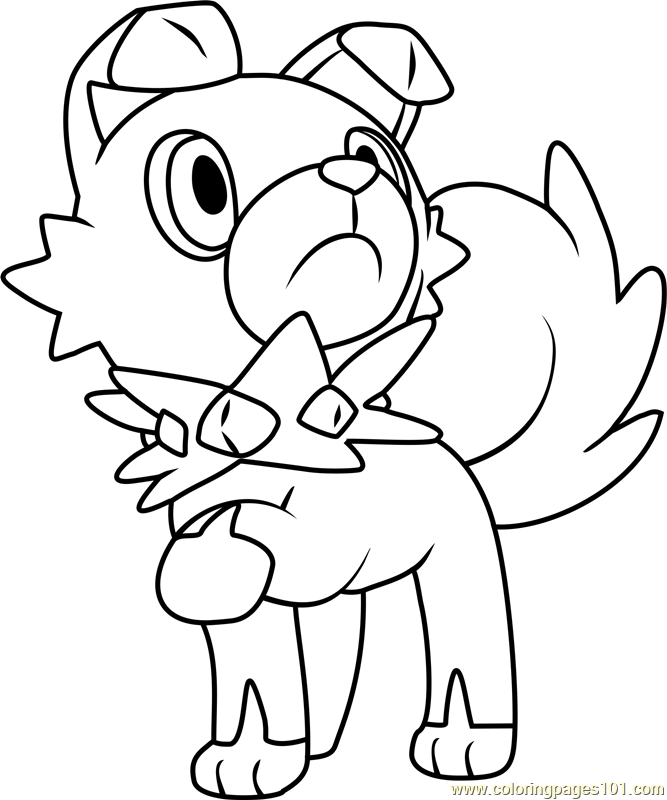 Rockruff pokemon sun and moon coloring page
