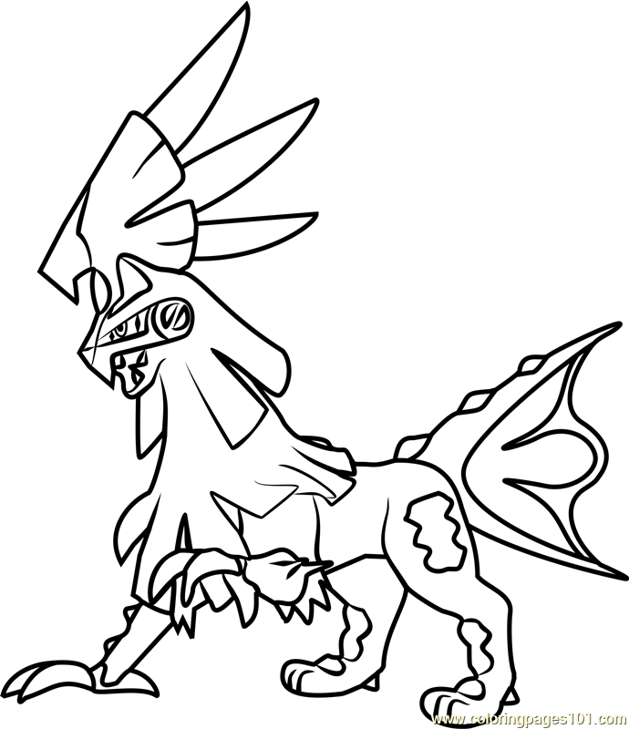 Silvally Pokemon Sun and Moon Coloring
