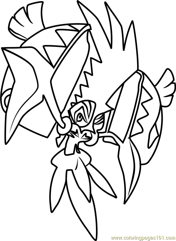 Tapu Koko Pokemon Sun And Moon Coloring Page Color Online
