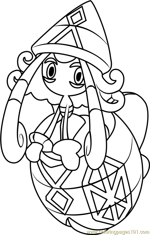 Tapu Lele Pokemon Sun and Moon Coloring Page - Free ... | 511 x 800 png 103kB