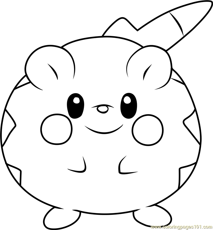 togedemaru pokemon sun and moon coloring page