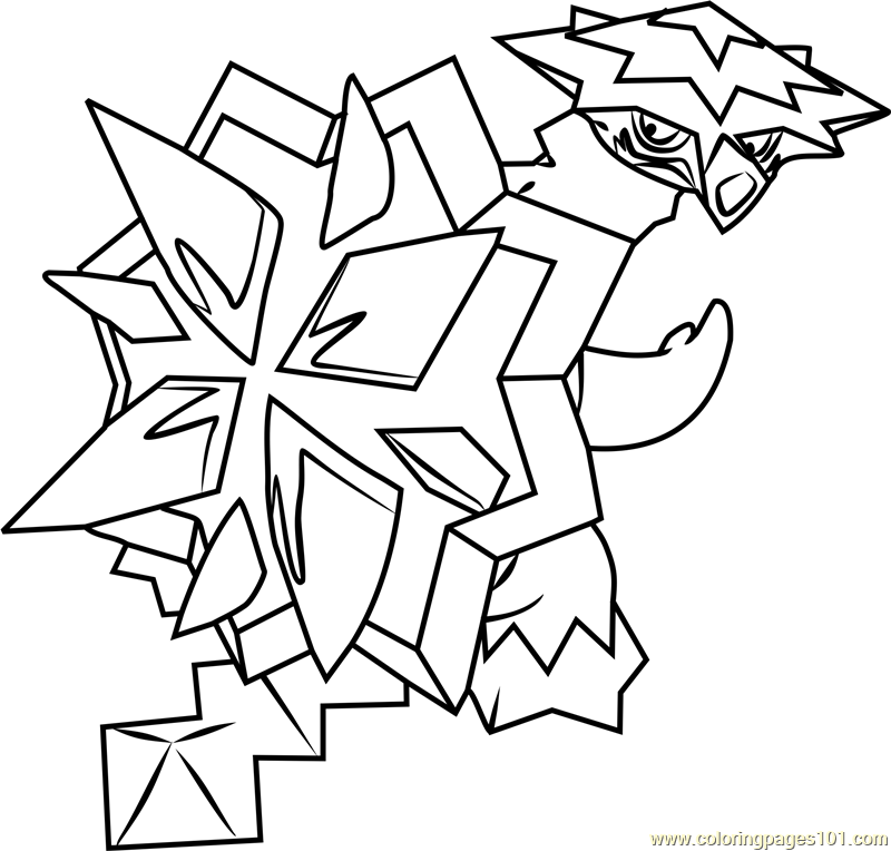 Turtonator Pokemon Sun and Moon Coloring Page