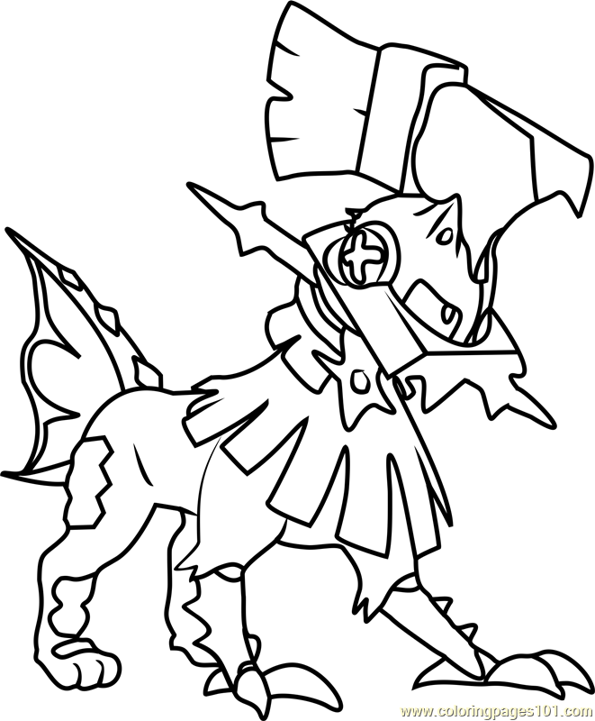 Type Null Pokemon Sun and Moon Coloring Page - Free Pokémon Sun and ...