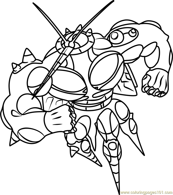 UB-02 Absorption Pokemon Sun and Moon Coloring Page