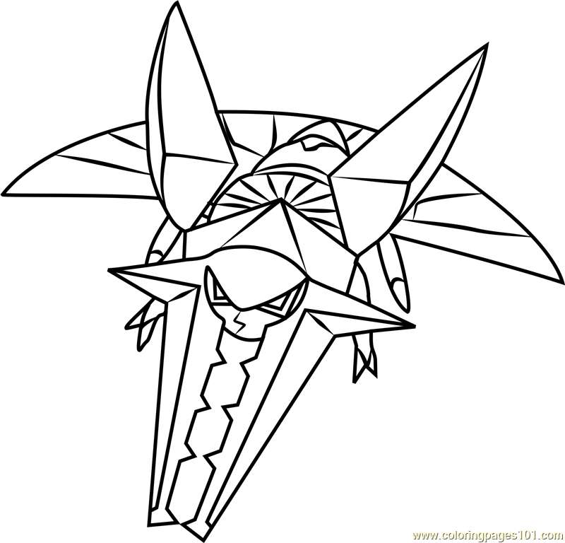 vikavolt pokemon sun and moon coloring page free pokémon sun and