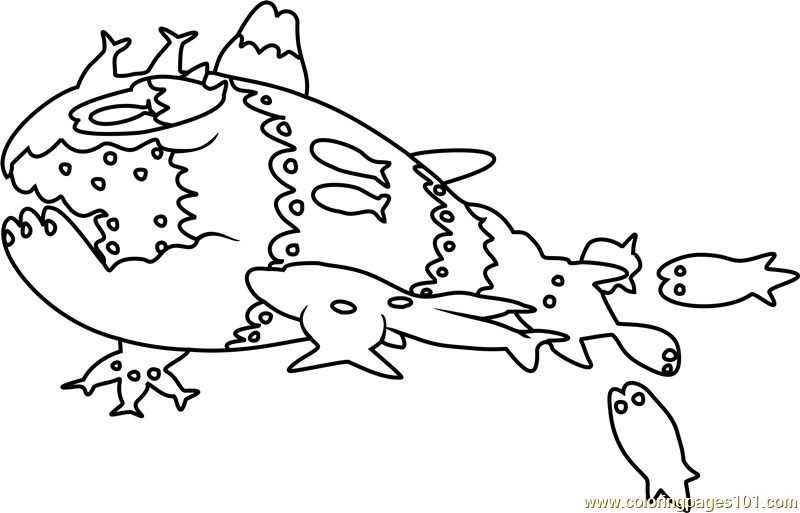 Wishiwashi School Form Pokemon Sun and Moon Coloring Page