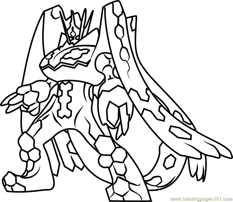 Zygarde Complete Forme Pokemon Sun and Moon Coloring Page