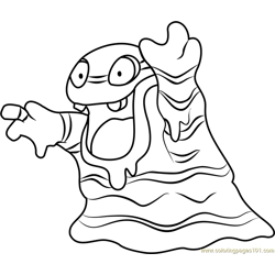 Ash greninja pokemon sun and moon coloring page free for Cosmog coloring pages