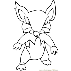 Alola Rattata Pokemon Sun and Moon Free Coloring Page for Kids