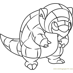 Pok�mon sun and moon coloring pages sandslash coloring pages When Does Sandshrew Evolve Coloring Sheets for Adults