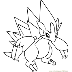 Alola Sandslash Pokemon Sun and Moon Free Coloring Page for Kids
