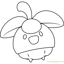 Bounsweet Pokemon Sun and Moon Free Coloring Page for Kids