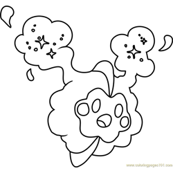 Cosmog Pokemon Sun and Moon Free Coloring Page for Kids