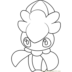 Fomantis Pokemon Sun and Moon Free Coloring Page for Kids