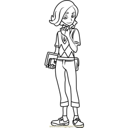 Ilima Pokemon Sun and Moon Free Coloring Page for Kids