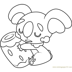 Komala Pokemon Sun and Moon Free Coloring Page for Kids