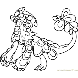Kommo-o Pokemon Sun and Moon Free Coloring Page for Kids