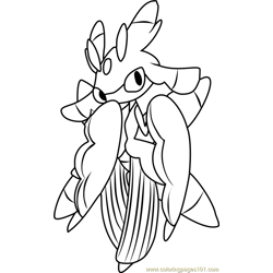 Lurantis Pokemon Sun and Moon Free Coloring Page for Kids