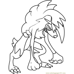 Lycanroc - Midnight Form Pokemon Sun and Moon